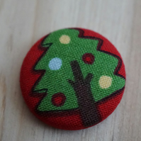SALE Christmas Tree Fabric Badge
