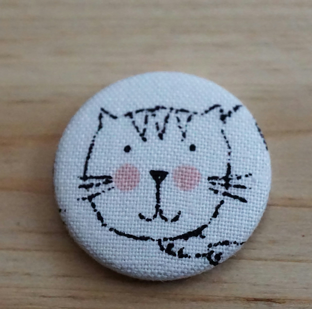 Cat Fabric Badge