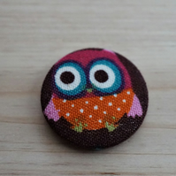 Owl Fabric Badge
