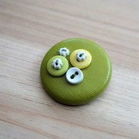 Lime & Lemon Button PVC Badge