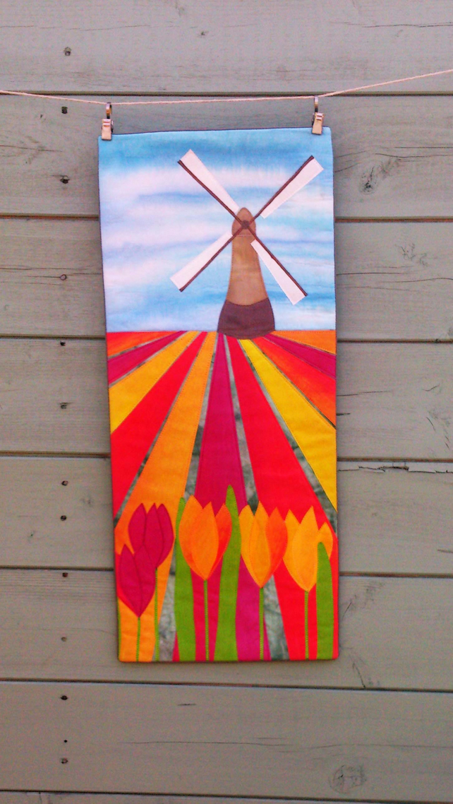 Dutch Tulip Field PDF Pattern by Quilt Routes