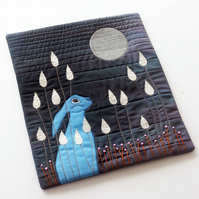 Moon Gazing Art Quilt Paper Pattern by Quilt Routes