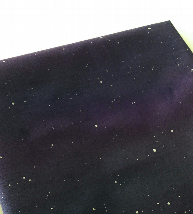 Night sky fabric painted to order folksy for Night sky material