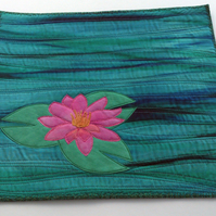 Kit  for mini art quilt...textile art   Water Lily