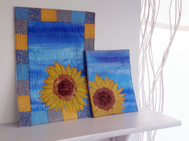 Solitary Sunflower DIY Printable PDF Pattern by Quilt Routes