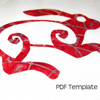 Applique Template PDF  Mystic Hare 2