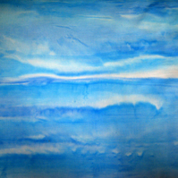 Hand Painted Sky Cotton Fabric