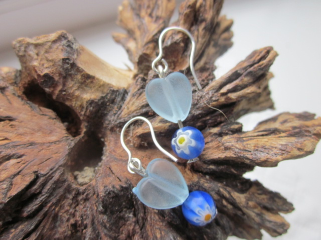 Earrings Love Blue
