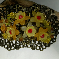 Hair Clip Sunshine Flowers