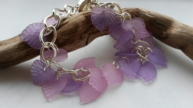Bracelet Leaves of Pink