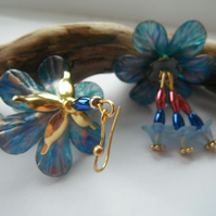 Earrings Kingston in Blue Lucite