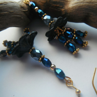 Earrings Tantalising Blue