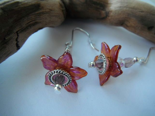 Earrings Saffron Flower