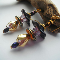 Earrings Salacious In Purple