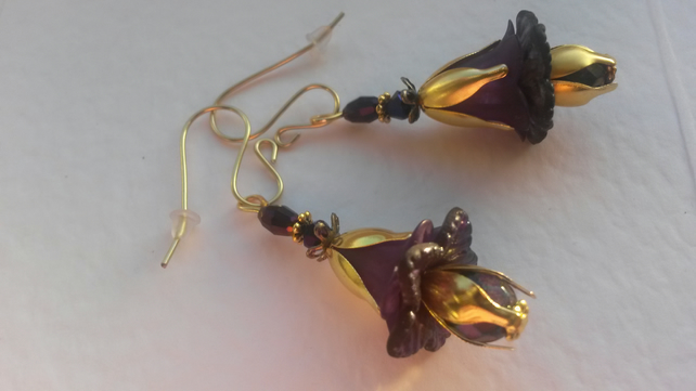 Earrings Telford Purple