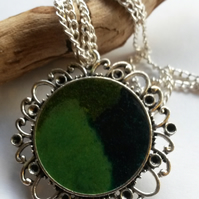 Necklace Enamel Forest