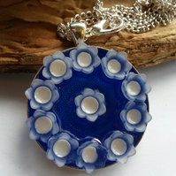 Necklace Blue Bouquet