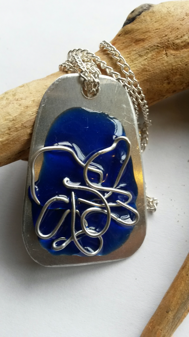Necklace Blue Tangle
