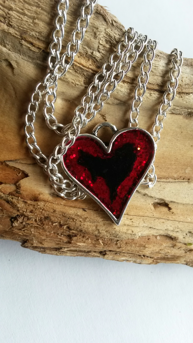 Pendant Blackened heart