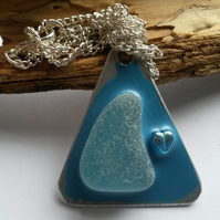 Necklace Blue Glass