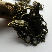 Necklace Butterfly and Black
