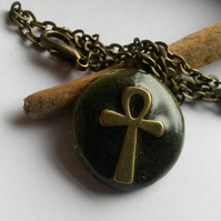 Necklace Circle and Cross