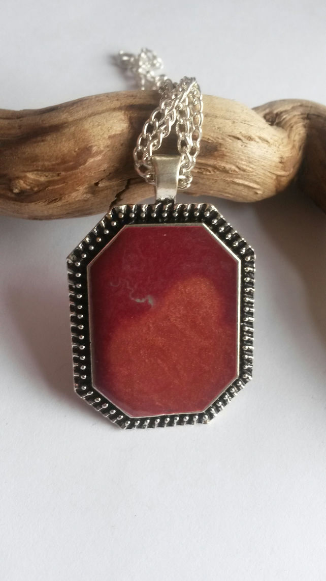 Necklace Smoky Reds