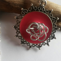 Necklace Rose in Pink