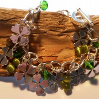 Large size bracelet Green for Luck