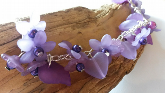 Bracelet Petula Purple in Lucite