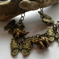 Bracelet Butterflies and Elephants