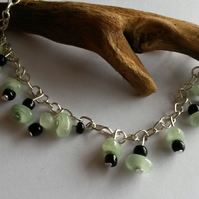 Anklet Green and Black