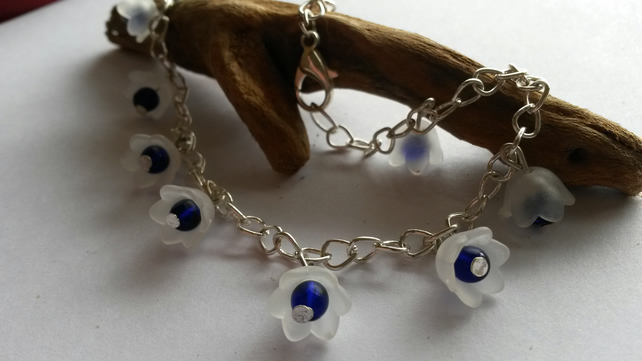 Anklet, Blue Flowerheads