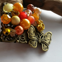 Brooch Autumn Butterfly