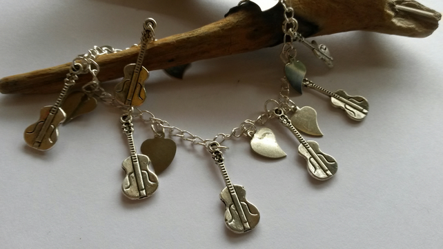 Charm Bracelet - Guitar Player