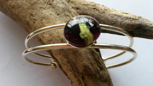 Bangle Black with yellow flecks