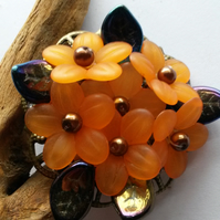 Brooch Orange and Purple