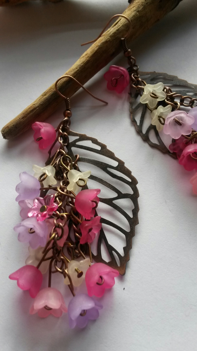 Earrings Abundance of Lucite and Copper
