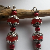 Earrings of Cherry Red
