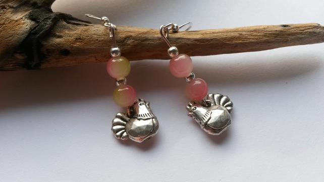 Earrings Chicken's blush x