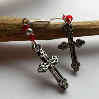 Earrings Cross!