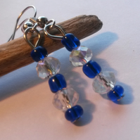 Earrings Sleek and blue