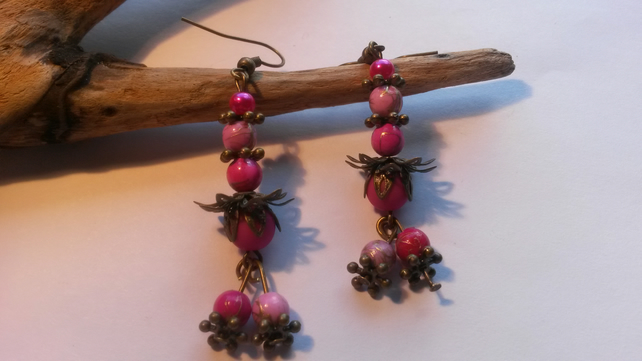 Earrings Shocking Pink
