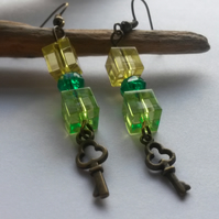 Earrings glass vision funk