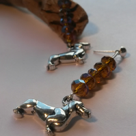 Earrings Rondelle Dachshund