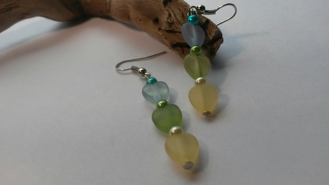 Earrings Summer Hearts
