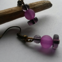 Earrings Plum Lovely