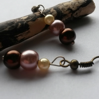 Rowley -  cream beaded earrings