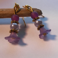 Earrings Pixie  Purples