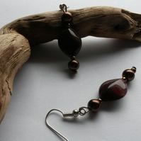 Earrings Mulled Wine